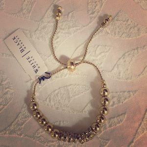 WhiteHouseBlackMarket Gold Beaded Bracelet
